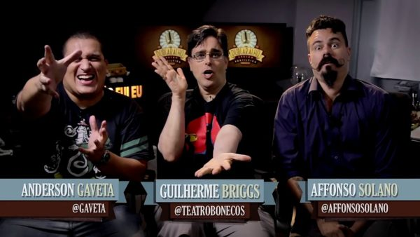Anderson gaveta, Guilherme Brigs e Affonso Solano no Dublaralho do Gaveta Show