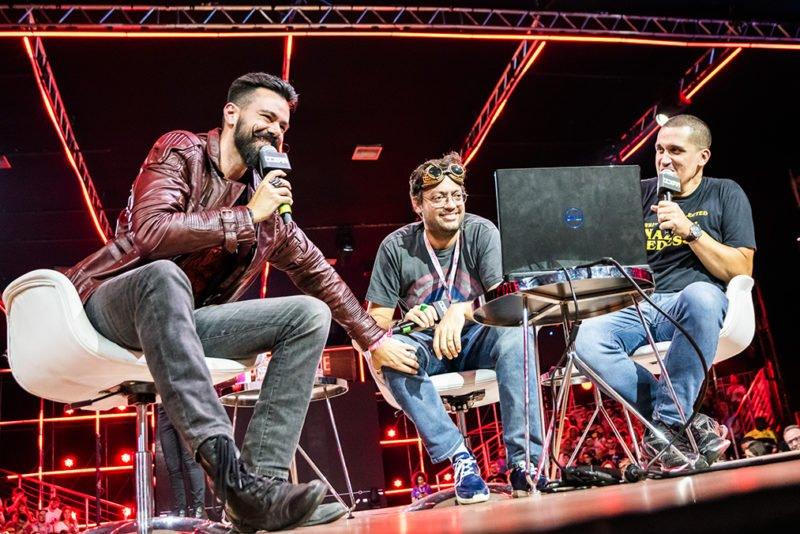 Gaveta, Solano e Caruso fazem Dublaralho Ao Vivo na CCXP