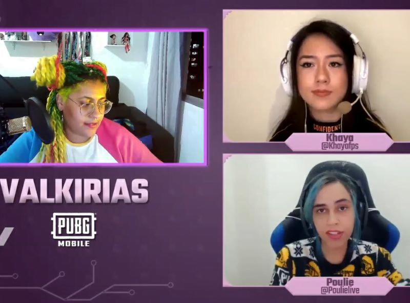 Andreza Delgado faz watchparty de Valkirias para PUBG Mobile